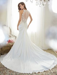Back of satin and lace!