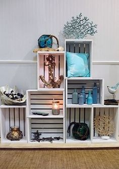 . Nautical Decor: Driftwood - Glass Floats. Nautical home decor and accessories for your summer gatherings and beach inspired home. Add oceanic flair to your... #Homedecoraccessories
