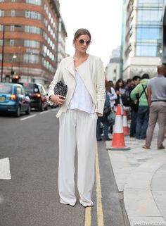 on the street, London. Speechless for this look.