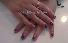 acryl + gelpolish + nailart