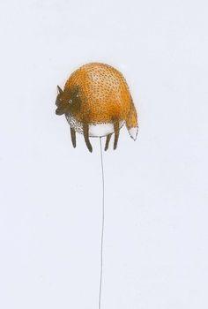 """Balloon Animal"" Illustration by imogenc Encontrado en hitrecord.org"