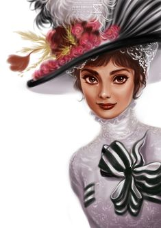 "Audrey Hepburn in ""My Fair Lady""    (by Sulev Daekazu)"