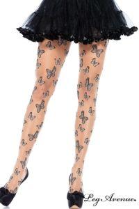 Collant Effet Tatoo Papillons. Un effet tatoo original et sensuel ! Plein de jolis papillons semblent danser, voler et monter le long...