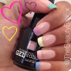 Summer nails created GELeration by the Beauty Box.