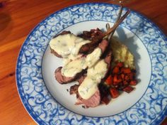 Crispy Rack of Lamb with Honey, Mascarpone and Mint sauce. #delicious #lamb