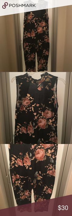 Floral Fashion Nova jumpsuit This is a BRANDNEW Floral jumpsuit, its perfect with sandals wedges , pumps and its stretchy , ! Fashion Nova Pants Jumpsuits & Rompers