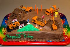 Collection of Kids Birthday Cake Decorating IdeasBest Birthday CakesBest Birthday Cakes Boys Birthday Cakes Easy, Creative Birthday Cakes, Dinosaur Birthday Cakes, Cakes For Boys, Birthday Ideas, Tractor Birthday, 3rd Birthday, Birthday Board, Happy Birthday