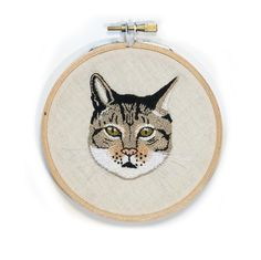 Hand Embrodiery by Greta Gotlieb of the Devonport Library Cat