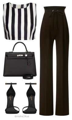 """""""Untitled #27"""" by arietheofficial ❤ liked on Polyvore featuring Rodarte, Yves Saint Laurent and Hermès"""
