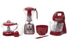 Kit Gourmet Red Premium Mondial - com Liquidificador + Batedeira + Espremedor - Magazine Ciafarias Iphone 8, Coffee Maker, Red, Magazine Online, House, Facebook, Google, Furniture, Shopping