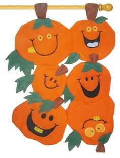 Goofy Pumpkins 3D Applique House Flag
