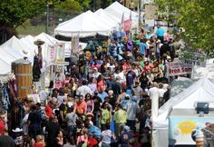 Photo gallery of N.C. Azalea Festival street fair this weekend