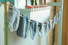 Denim pocket banner: birthday? Fourth of July? Hmmmm. I'm doing this for some occasion!