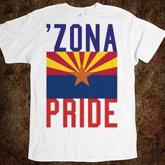 "Arizona ""ZONA PRIDE"" state flag t-shirt."