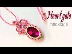 How to make macrame necklace the Heart gate - hướng dẫn thắt mặt dây chuyền bọc đá - YouTube