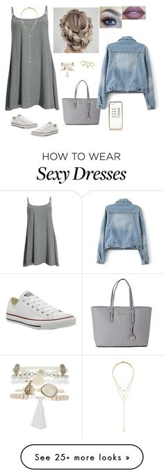 . by jaritza-hemmings on Polyvore featuring мода, Converse, Forever 21, Monsoon, Lumière, Michael Kors, Rebecca Minkoff и River Island
