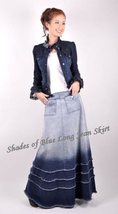 Style J Denim Skirts - great source for denim skirts, especially for tall sizes