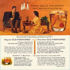 A very Mad Men approved 1960s page of cocktail recipes. #vintage #1960s #food #drinks #cocktails #recipes