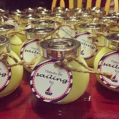 Lemon Sea Salt party favors for a nautical themed baby shower