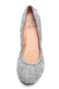 These are adorable. Lucky Brand Herringbone Flats.