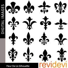printable fleur de lis pictures | Illustrations & Cliparts - Fleur De Lis Silhouette - MYGRAFICO ...