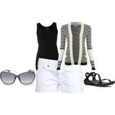 Stripes and sunnies, created by sernatt on Polyvore
