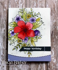 Card by Tricia Barber (101816) [(dies) My Favorite Things Die-namics Stitched Scalloped Basic Edges; (stamps) Concord & 9th Hello Lovely]