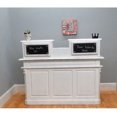 STORE COUNTER Antique FRENCH old restaurant desk reception cottage chic shabby