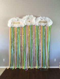 Rainbow and unicorn photo booth. Unicorn birthday party