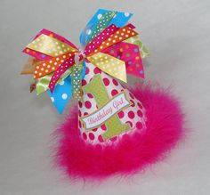 Hot Pink Turquoise Lime Orange Polka Dot Party Hat by shoplissy, $13.50    Even more awesome in person!