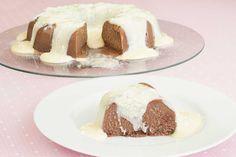 Receita 100% feita no micro-ondas! Pudim de Nutella com brigadeiro cremoso de Leite Ninho. Sobremesa divina e super rápida.