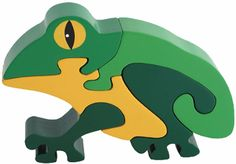 Frog Wooden Puzzle - 3D Wood Jigsaw Puzzle. Just one of over a hundred in my collection.