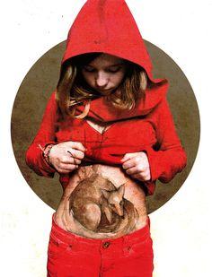 O Tapete Vermelho da Imagem: Images' Red Carpet: A Menina do Capuchinho Vermelho por Elia Fernandez / Red Riding Hood illustrated by Elia Fernandez