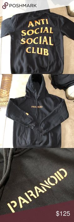 918e024bf277 ASSC x Undefeated Black Hoodie 100% Authentic or your money back! SIZE UP!  Office Is ClosedSocial ClubAnti ...