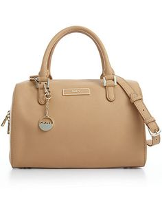 DKNY Handbag, Saffiano Leather Satchel