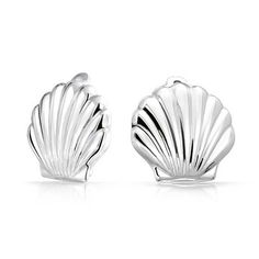 Bling Jewelry Sterling Silver Nautical Sea Life Shell Clip On Earrings Alloy Clip ** Click image for more details.