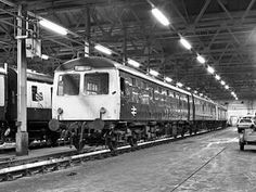 Cravens class 105 two car dmu at Longsight depot, Manchester.