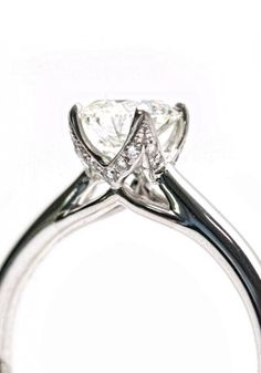 Parade Designs Hemera .80ctw G/SI1 Round Diamond Solitaire Crown Setting Ring | Oster Jewelers
