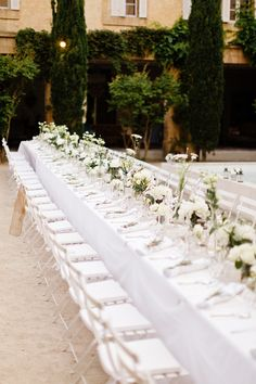 Gorgeous table setting for a #WhiteWedding #whitereception: You Mean The World To Me