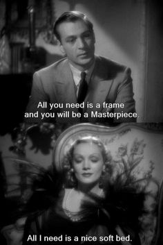 All I need is a nice soft bed. Desire (1936)
