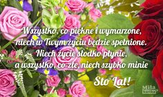 Wszystko co piękne i wymarzone #urodziny #kartki #życzenia #urodzinowe #pozdrawiam #stolat #100lat #polska #birthday #happybirthday #kwiaty #róże #bukiet #poland #pozdrowienia #wszystkiego #najlepszego Good To Know, Celebrations, Rose, Birthday, Flowers, Cards, Pink, Birthdays, Roses