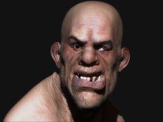 Sculpture Zbrush: portrait du buste d' un troll
