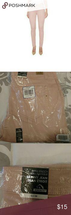Jordache Skinny Jeans Rose colored skinny jeans. Brand new, never worn. Still in the plastic I bought them in Jordache Jeans Skinny