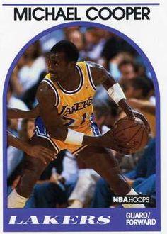 RARE 89/90 NBA HOOPS MICHAEL COOPER LOS ANGELES LAKERS MINT