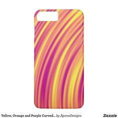 Yellow, Orange and Purple Curved Ripples Pattern Orange And Purple, Yellow, Iphone Case Covers, Cover Design, Create Your Own, Pattern, Nice, Patterns, Model