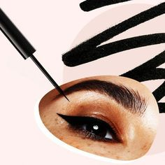 image #EyelinerStyles Simple Eyeliner, Perfect Eyeliner, Best Eyeliner, Eyeliner Pen, Black Eyeliner, Drugstore Eyeliner, Eyeliner For Beginners, Eyeliner Styles, Beauty Soap