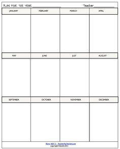 Plan ahead! Jot down units you'll be teaching, school activities and more for the upcoming year! See more of the great variety of my helpful school templates that save time! priced item
