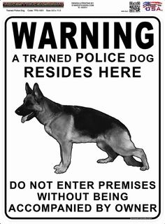 Mike Stickers - Trained Police Dog