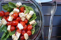 spinach and tomato salad - Low Carb Recipe Caprese Salad, Cobb Salad, Tomato Salad Recipes, Low Carb Recipes, Spinach, Foods, Insalata Caprese, Food Food, Food Items