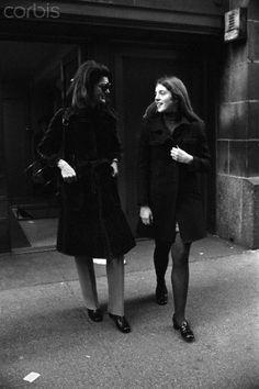 Jackie Kennedy Onassis and Caroline Kennedy, 1972